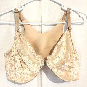 SOMA VANISHING BACK Front Close Lace Nude Bra 38DD
